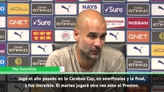 """Guardiola se rinde a Eric García: """"Es muy listo y capaz de liderar a toda la defensa"""""""