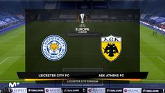 Europa League (J6): Resumen y goles del Leicester 2-0 AEK