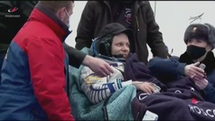 Aterriza con éxito la nave Soyuz