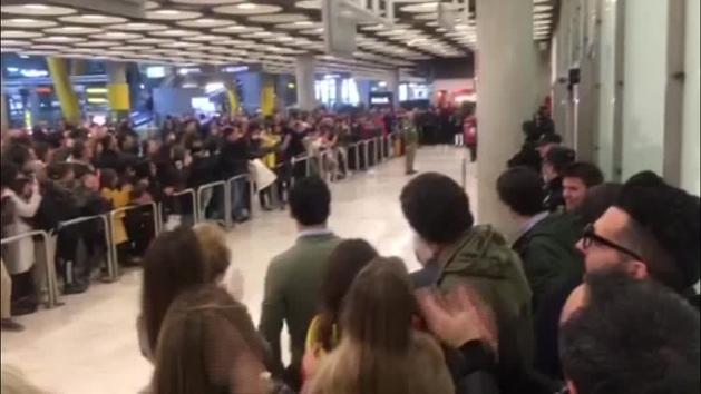 Carlos Sainz recibido con honores en Madrid