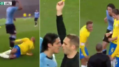 El encontronazo entre Neymar y Cavani en el Brasil-Uruguay