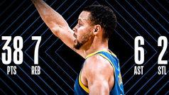 Stephen Curry se saca otra genialidad de la chistera: 38 puntos y siete triples