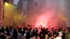 La celebración del triunfo del Baskonia termina con un detenido y dos ertzainas heridos