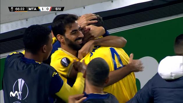 Un gol de Saborit certifica el pase del Maccabi Tel Aviv