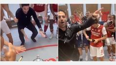 La celebración del Arsenal en vestuarios: el bailecito de Arteta se hará viral