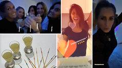 Las mujeres de la MSG celebraron con bailes y chupitos la 'manita' de sus chicos al Mallorca