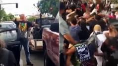 Brutal paliza en Salt Lake City tras amenazar a un grupo de manifestantes con un arco