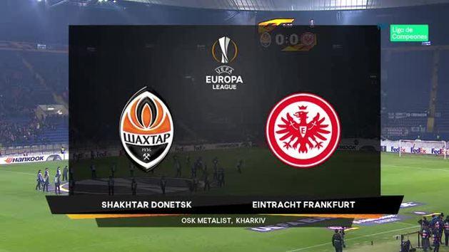 Europa League (1/16, ida): Resumen y goles del Shakhtar 2-2 Eintracht