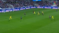 Gol de Borja Iglesias (0-1) en el Huesca 0-2 Espanyol