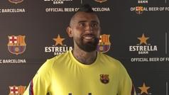 Arturo Vidal analiza la situación del Barcelona y la recta final de la temporada