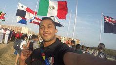 Jahir Ocampo estuvo en el izamiento de la bandera en Barranquilla