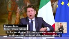 """Giuseppe Conte: """"Se prohíben los entrenamientos hasta el 13 de abril"""""""