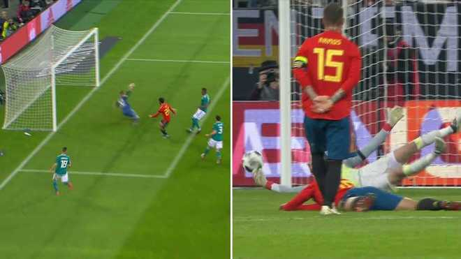 ef9eac0fd9c Highlights of some outrageous saves from de Gea and ter Stegen. His World  Cup ...