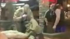 Un luchador de wrestling ayuda a la Policía a detener a un hombre