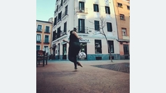 Paloma Pujol entrena en el barrio madrileño de Malasaña