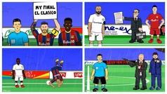 La divertida y viral parodia del Clásico: desde el saludo inicial a las quejas de Piqué y Koeman
