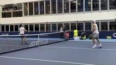 El otro partido de tenis entre Nadal y Moyá