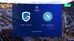Champions League (fase de grupos): Resumen del Genk 0-0 Nápoles