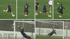 El Madrid entrena los golazos con un pique de faltas: ¿quién las tirará en partido?