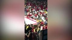 Incidentes violentos en la cancha del Charleroi, posible rival del UCAM Murcia en la Champions
