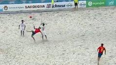 El 'chilenón' de Eduard Suárez, nominado al Puskas del fútbol playa: ¡pero qué golazo!