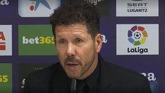 """Simeone: """"Tenemos entender que los partidos arrancan desde el inicio"""""""