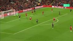 Gol de Haland (3-3) en el Liverpool 4-3 Salzburgo