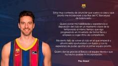 Oficial: Pau Gasol firma por el Barcelona hasta final de temporada