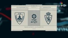 LaLiga 123 (J9): Resumen y gol del Numancia 1-0 Zaragoza