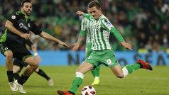 Copa del Rey (1/16, vuelta): Resumen y goles del Betis 4-0 Racing