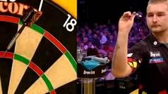 La tirada perfecta de nueve dardos que sacude el Grand Slam de los Dardos