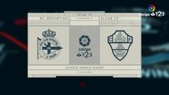 LaLiga 123 (J9): Resumen y goles del Deportivo 4-0 Elche