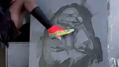 Bou Bou dibuja a Neymar con el pie, a Mayweather a puñetazos y a LeBron a balonazos