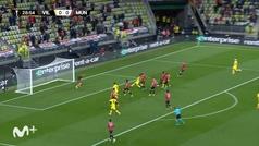 Gol de Gerard Moreno (1-0) en el Villarreal (11) 1-1 (10) Manchester United
