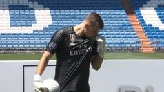 Lunin ya pisa el césped del Bernabéu
