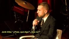 Jordi Alba pasa la pelota de su renovación a Bartomeu