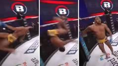 Gana su combate de MMA por sumisión,se levanta de la lona...¡y se clava un mortal hacia atrás épico!