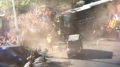 Así fue la llegada del Valencia al Benito Villamarín