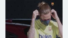 Así fue el último entrenamiento del Barcelona