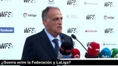 """Tebas: """"No estoy en guerra con la RFEF, me suena a película de Almodóvar"""""""