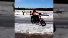 Se rompe tibia y peroné rodando sobre hielo