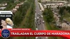 Así fue el traslado del cuerpo de Maradona: mientras el fiscal daba detalles de la muerte