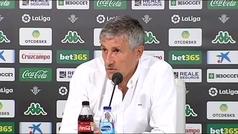"""Setién: """"No entiendo que habiendo VAR no se revise la jugada del penalti a Canales"""""""