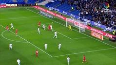 Gol de Diego Llorente (p.p.) (2-2) en el Real Sociedad 3-2 Espanyol