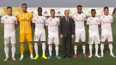 Así fue la foto oficial del Real Madrid 19/20: Florentino posó con los seis fichajes... y James