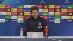 """Simeone: """"Es un partido importante y debemos seguir la línea que llevamos"""""""