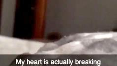 Vídeo de terror. Una mujer graba una sombra junto a su cama: ¿Un fantasma o un intruso?