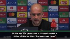 """Guardiola matiza sus dudas sobre el Liverpool y Mané: """"No es suerte, aprietan hasta el final"""""""
