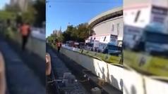 Sale a la luz otro vídeo de la terrible caída de Jakobsen desde detrás de la valla
