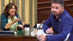 """La vicepresidenta de la comisión de financiación irregular del PP llama """"imbécil"""" a Rufián"""